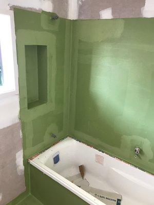 leaking bathroom